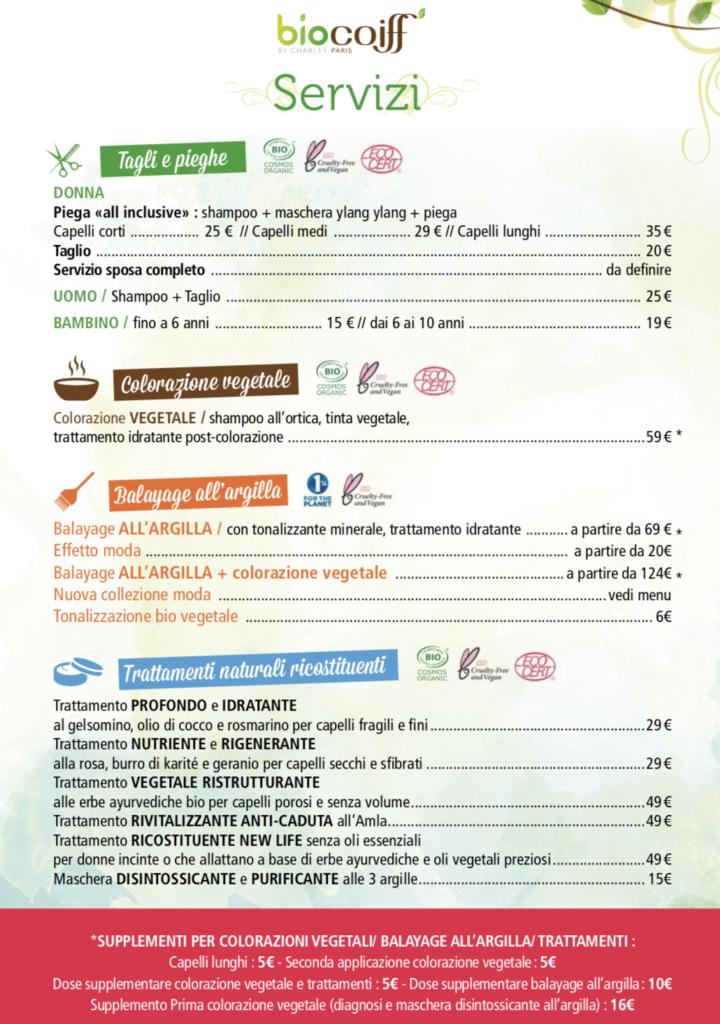 biocoiff verona listino prezzi